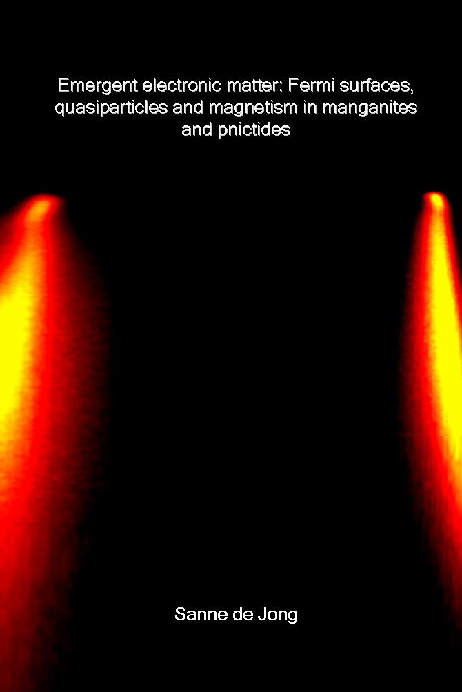 Emergent electronic matter  Fermi surfaces  quasiparticles and magnetism in manganites and pnictides  April       Ph D  thesis of Sanne de Jong  pdf